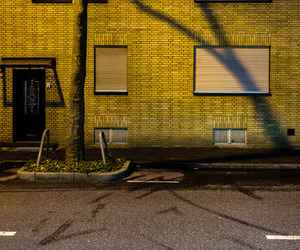 building, yellow, and street photography image