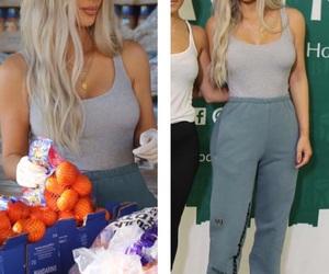 blonde hair, casual, and kim kardashian image