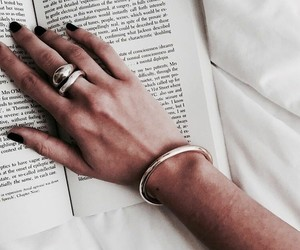 book, accessories, and nails image