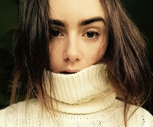 beauty, winter, and lily collins image
