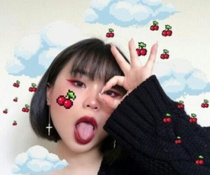 girl, asian, and icon image