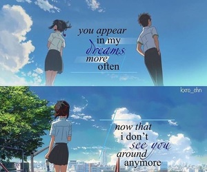 anime, quotes, and your name image