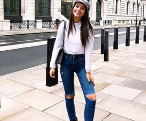denim, knitwear, and style image