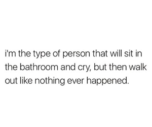 alone, bathroom, and crying image