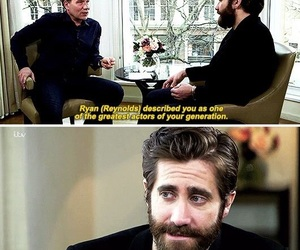 funny, haha, and jake gyllenhaal image