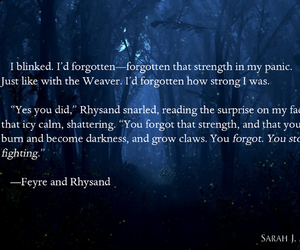 quote, feyre, and rhysand image