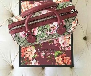 bag, floral, and gucci image
