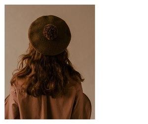 beret, brown, and cap image