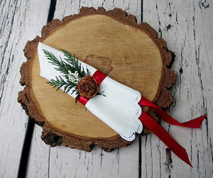 etsy, winter wedding, and red green decor image