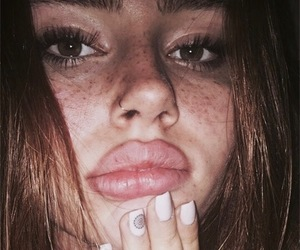 freckles, girl, and lip image