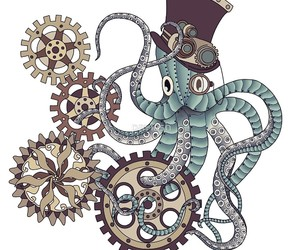 illustration, illustrations, and octopus image