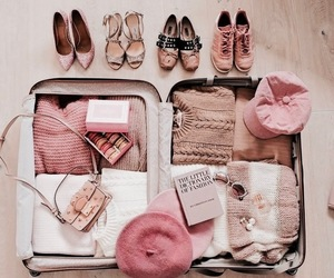clothes and suitcase image