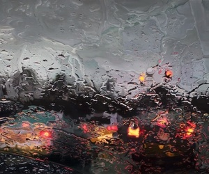 rain, car, and aesthetic image