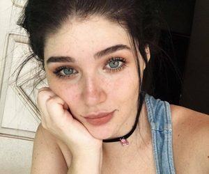 choker, freckless, and face image