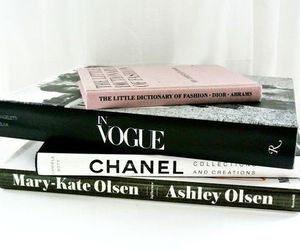 chanel, vogue, and book image
