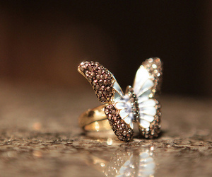 buterfly, butterfly, and diamond image