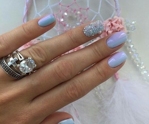 nails, violet, and ombre image