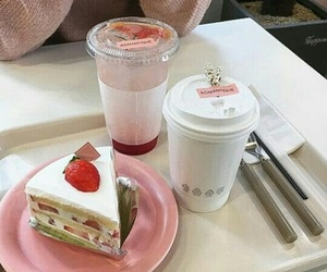 food, cake, and pink image