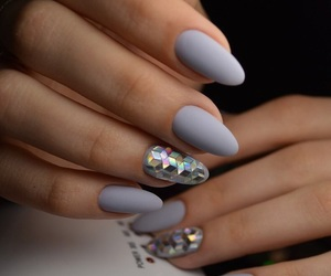frosted, gray, and nails image