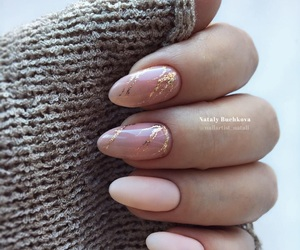 gold, Nude, and nails image