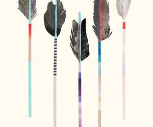 arrow, feather, and art image
