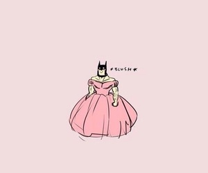 batman, pink, and wallpaper image