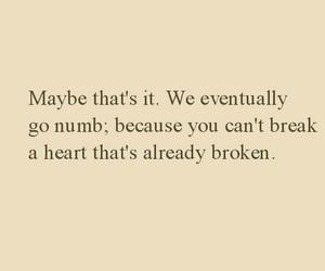 broken, heart, and NUMB image