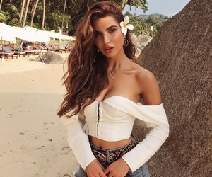 beach, outfit, and women image