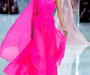 dress, fuchsia, and ralph and russo image