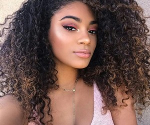 curls, fashion, and girls image