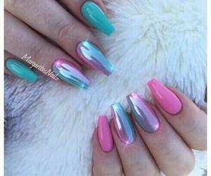 nails, unicorn, and pink image