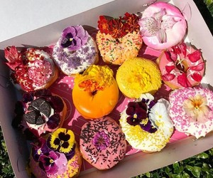 colourful, donuts, and delicious image