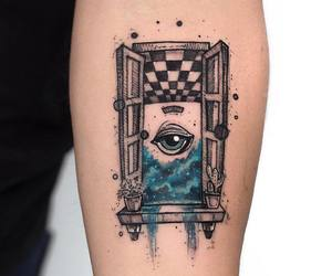 body art, inked, and rene magritte image