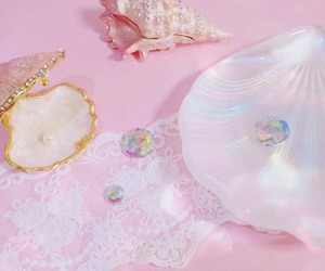 pink, shell, and cute image