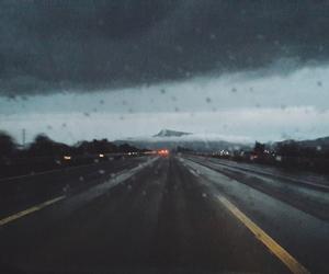 rain, traveller, and way image