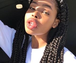 beautiful, big lips, and black girl image