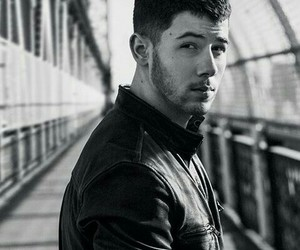 black and white, jonas brothers, and style image