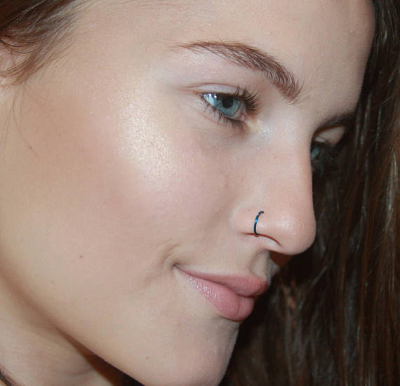 Fake Nose Ring Clip On Nose Ring Faux Nose Ring Hoop