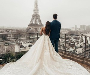 love, wedding, and paris image