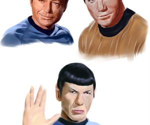 art, captain kirk, and mr spock image