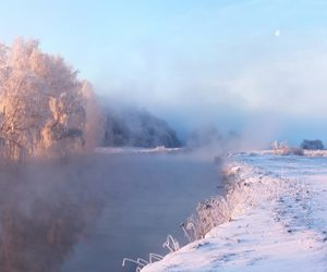 fog, river, and frost image