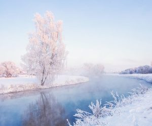 blue, river, and frost image