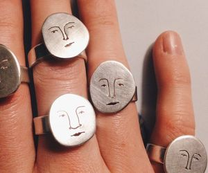 face, fashion, and rings image