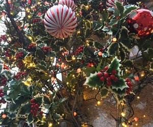baubles, edinburgh, and holly image