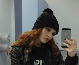 alternative, beanie, and curly hair image