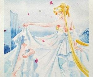 ash, princess serenity, and salor moon fanart image