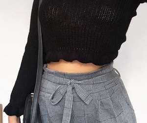 black, clothes, and pants image