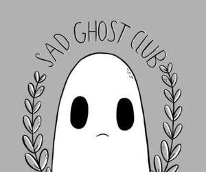 art, comic, and sad ghost club image