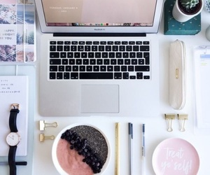 chic, desk, and fashion image