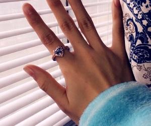 diamond, finger, and heart image